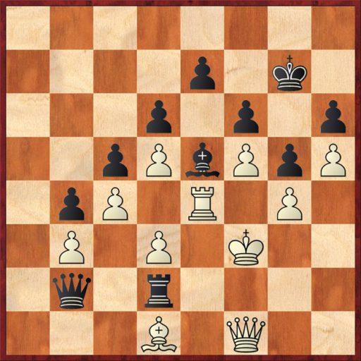 Alle weißen Figuren auf Weiß, alle schwarzen Figuren auf Schwarz - man bekommt den Eindruck, hier wurde auf unterschiedlichen Feldern Dame gespielt.