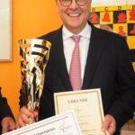 Roman Krulich mit dem Deutschen Schachpreis 2016
